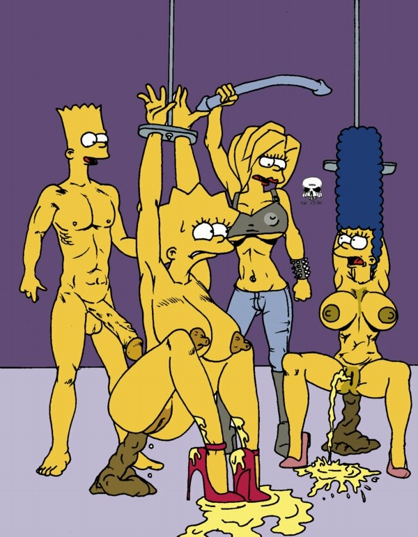 bart marge naked with simpson The magic school bus